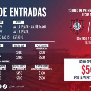 Venta de entradas vs Rosario Central