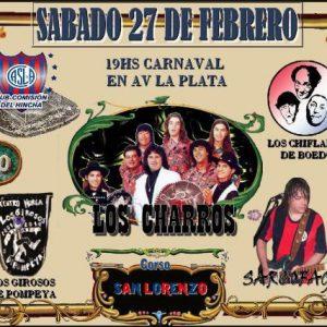 Carnavales en Avenida La Plata