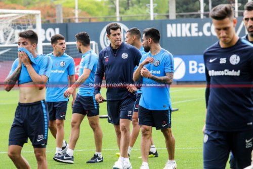 Primer entrenamiento de Jorge Almirón