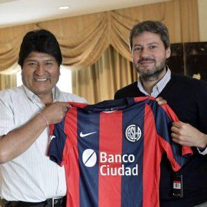 Lammens se reunió con Evo Morales