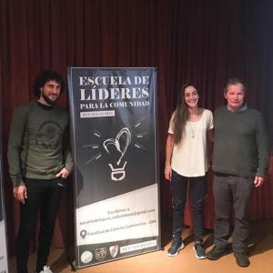 Coloccini y Maca Sánchez en una charla de Red Solidaria