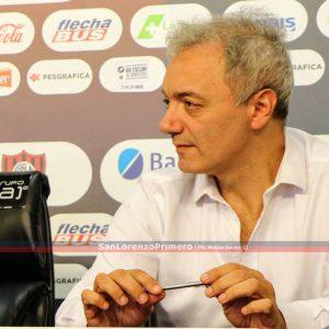 Miguel Mastrosimone y la postura de San Lorenzo por Paulo Díaz