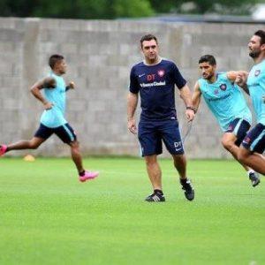 Práctica liviana y preparatoria para cerrar la participación en la Copa