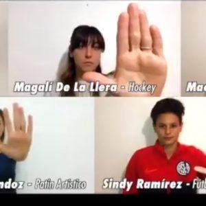 El mensaje de las deportistas de San Lorenzo contra la violencia de género