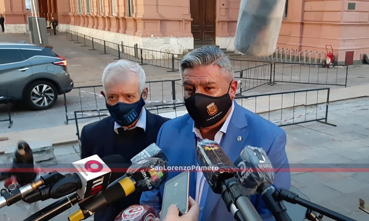 """Claudio Tapia: """"Dimos un paso muy importante"""""""