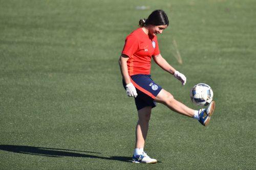 El fútbol femenino también volvió a los entrenamientos