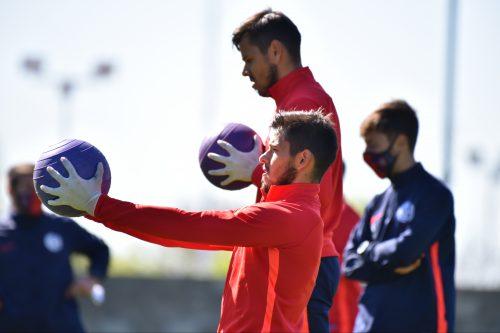 Ángel Romero ya entrena con sus compañeros
