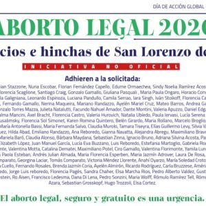 Varias personalidades destacadas de San Lorenzo piden que se trate la Ley de Aborto