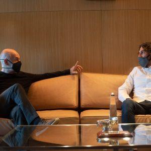 Tras terminar el secundario, Fabricio Coloccini se reunió con Horacio Rodríguez Larrerta