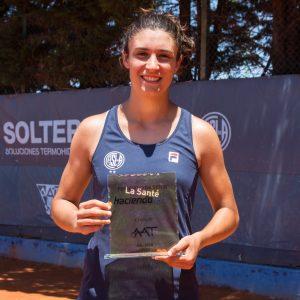 """Juana Larrañaga: """"Haber ganado este torneo me da mucha confianza para lo que viene"""""""