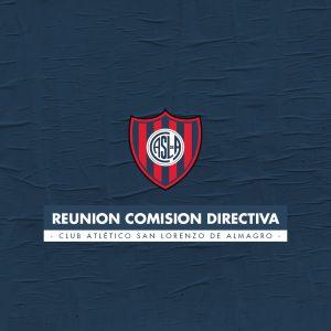 Nueva reunión de Comisión Directiva