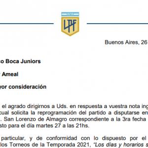 La Liga Profesional rechazó el último pedido de Boca